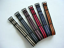 NATO G10® PVD Ballistic Nylon Watchbands