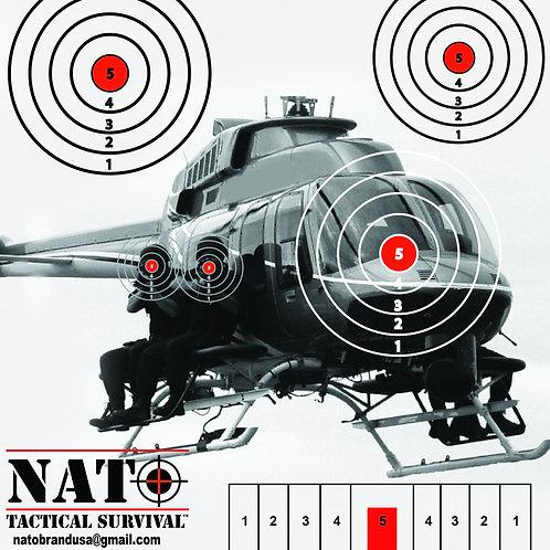 NATO® Helicopter Gunner Paper Target 25 Pack