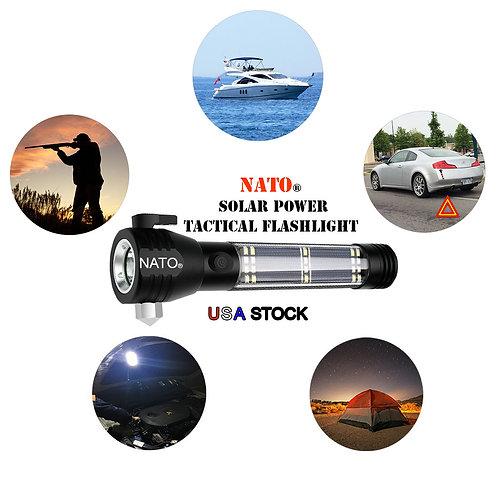 NATO® Solar Power Tactical Survival Flashlight