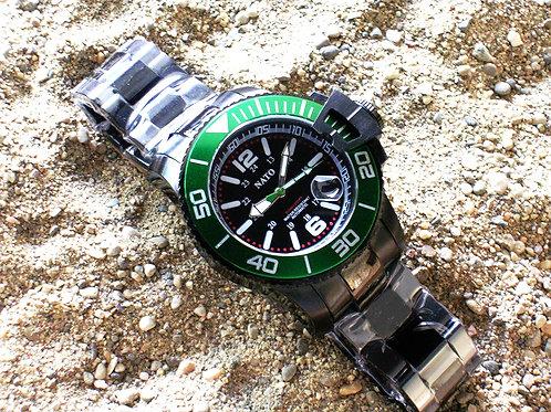 Stealth Series MIL-DIVER - Green Bezel