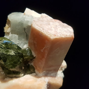 Thomsonite and Diopside, Seiland Norway