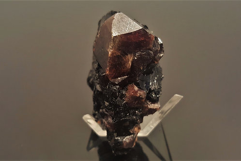 Big zircon in biotite (5 cm specimen) from Seiland, Finnmark, Norway
