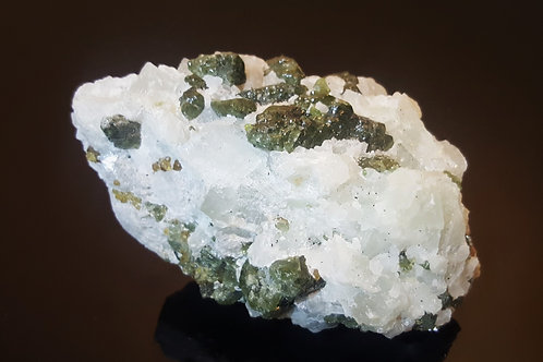 118mm Diopside on Calcite from Seiland, Finnmark, Norway