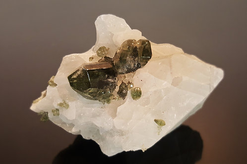 SOLD 58 mm Diopside in Calcite from Seiland, Finnmark, Norway