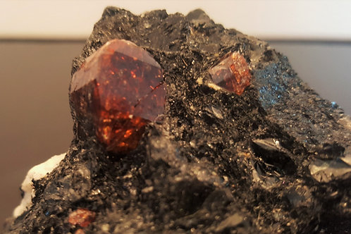 19 mm zircon on biotite from Seiland, Finnmark, Norway