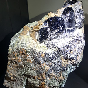 Giant Melanite and Monticellite, Seiland Norway