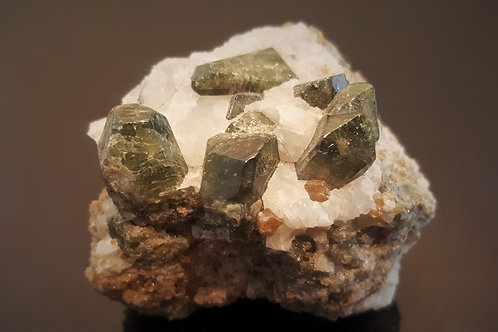 62 mm Diopside in Calcite from Seiland, Finnmark, Norway