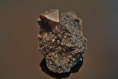 75 mm fantastic Zircon in biotite from Seiland, Finnmark, Norway