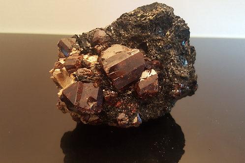 Beautiful 1747 gram Zircons on biotite