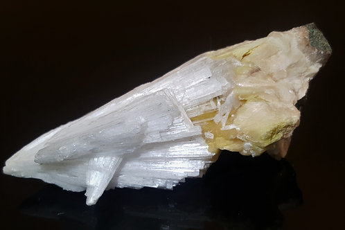105 mm Scolecite on Stilbite from Malad Quarry, Maharashtra, India
