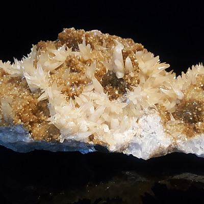 Calcite, Stilbite and Quartz, Malmberget Sweden