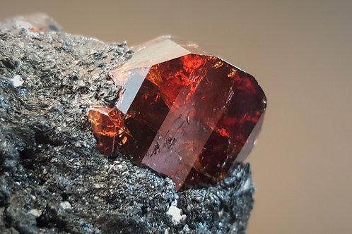 72 mm Beautiful Zircon in Biotite from Store Kufjord, Seiland, Finnmark,