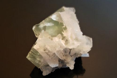 59 mm Calcite on Fluorite from Yaogangxian, Chenzhou, Hunan, China
