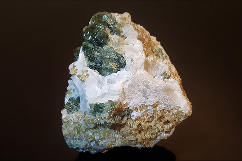 83 mm Diopside in Calcite from Bumannsfjorden, Seiland, Finnmark, Norway