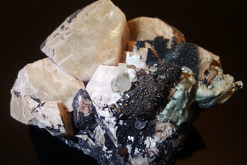 143 mm Orthoclase, Hematite, Asbestos and Hornblende from Malmberget, Sweden