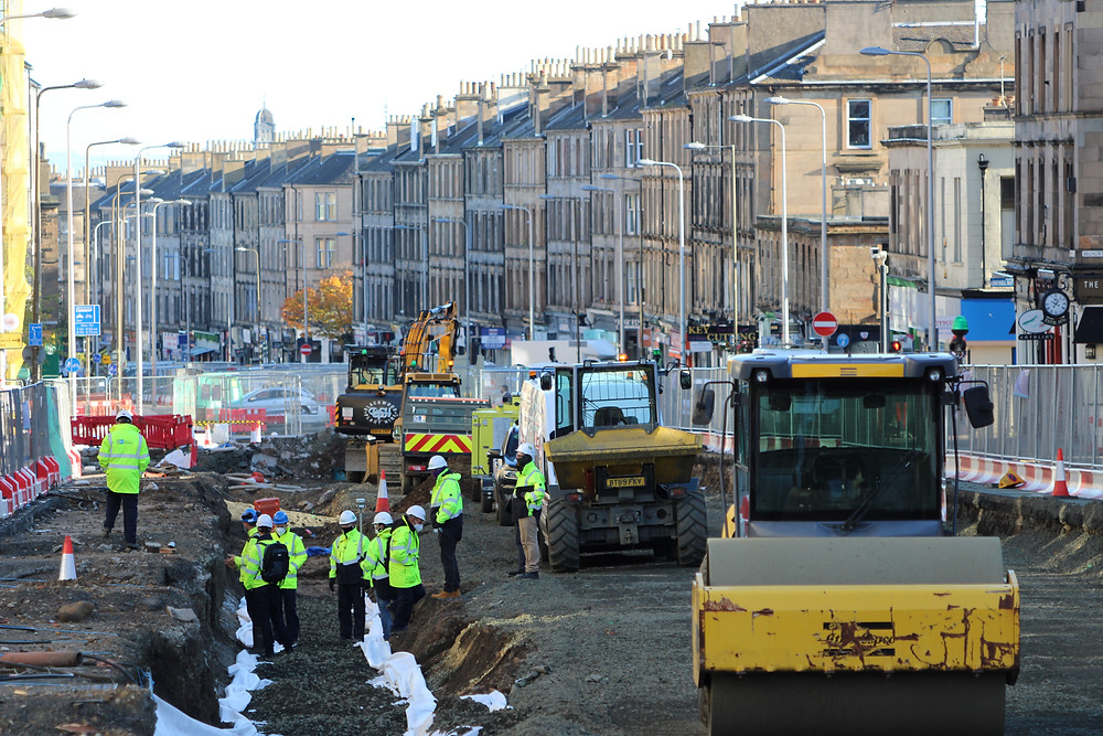 Leith Tram works Edinburgh Investment Property Hotspot