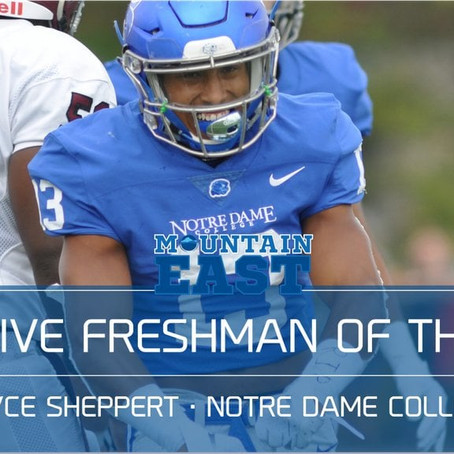 Bryce Sheppert is named Conference Freshman of the Year!