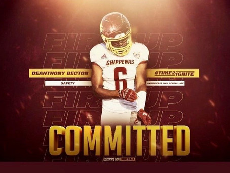 Deanthony Becton commits to Central Michigan!