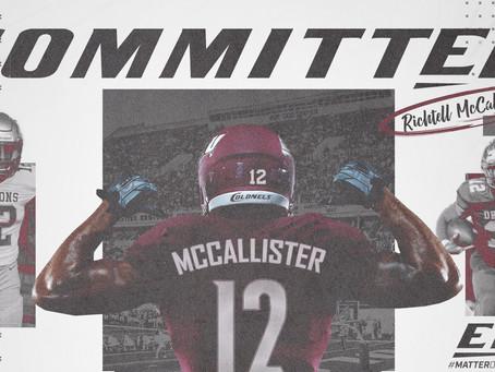 Richtell McCallister commits to Eastern Kentucky!