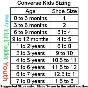 converse kids size