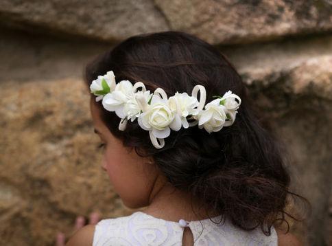 Meia Coroa flor laço