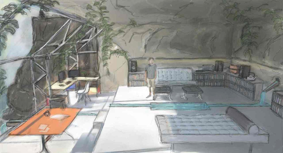 Minds Eye Ideal Workspace Digital Illustration