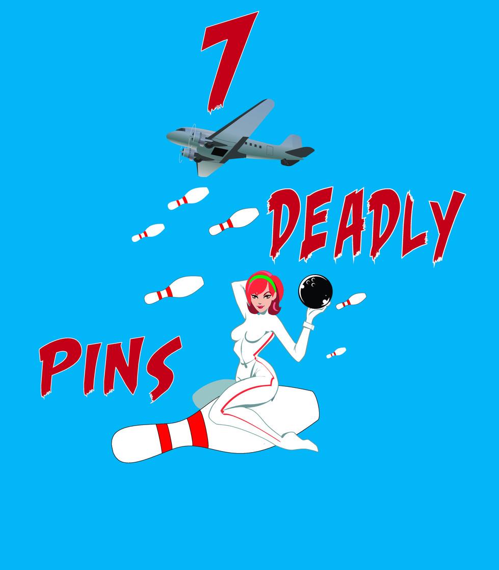 7 Deadly Pins Retro Design
