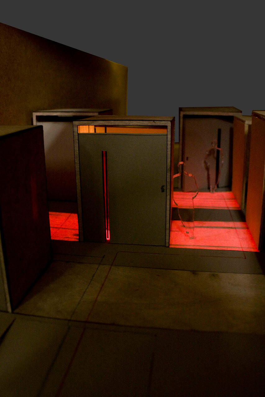 Model at Night - Light Indicates Occupancy