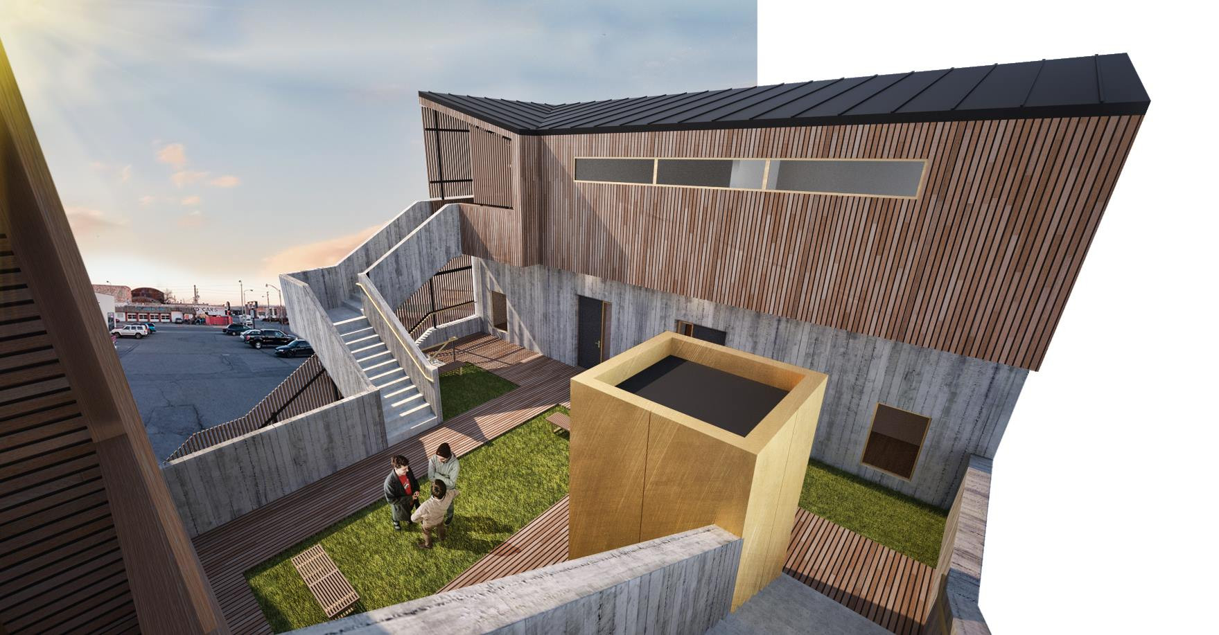 Roof Top Courtyard