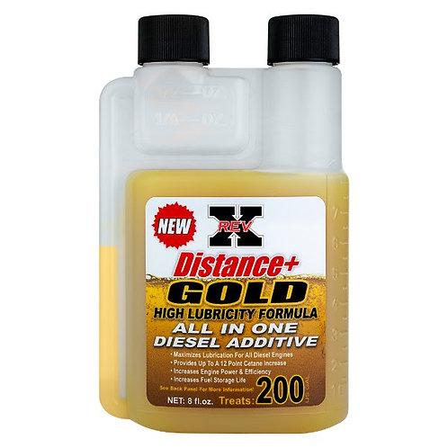 REV-X Distance+ Gold High Lubricity Formula All In One Diesel Additive 8oz