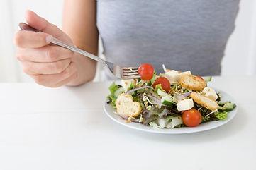 Het eten van Salade