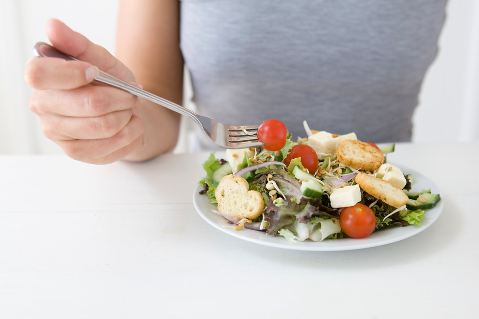 que come a salada