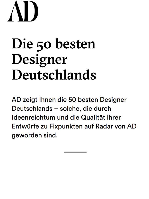 AD 50 BEST DESIGNER