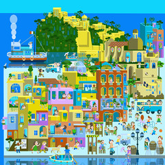 Monica Hernandez illustrations-Ischia Ponte