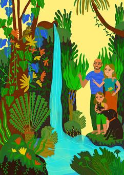 Monica Hernandez illustrations-ritratto di famiglia