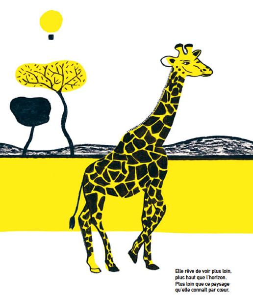 A giraffe on top of the world