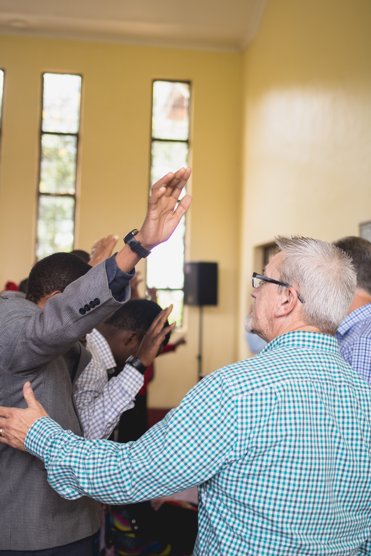 Reggie Praying for Students 2018