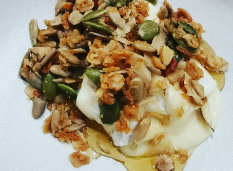Granola with Shakespeare Brie and white truffle honey by Jesse Wells.