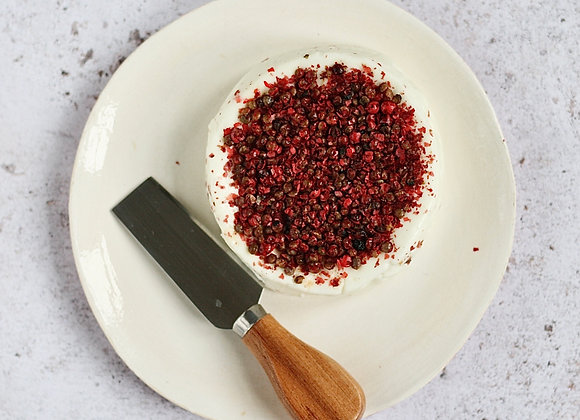 Orwell - topped with pink peppercorns