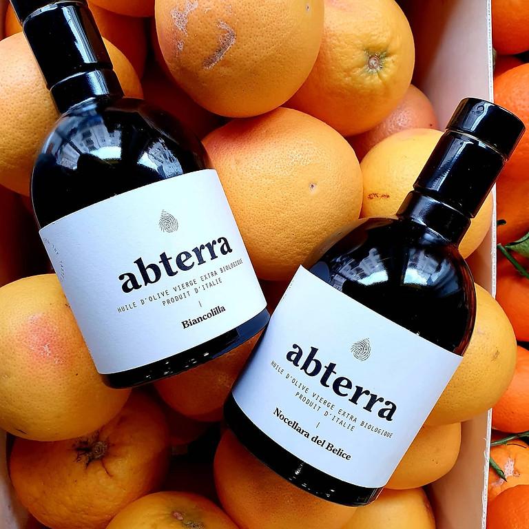 Dégustation de l'huile d'olive bio Abterra avec son fondateur Davide D'Alia