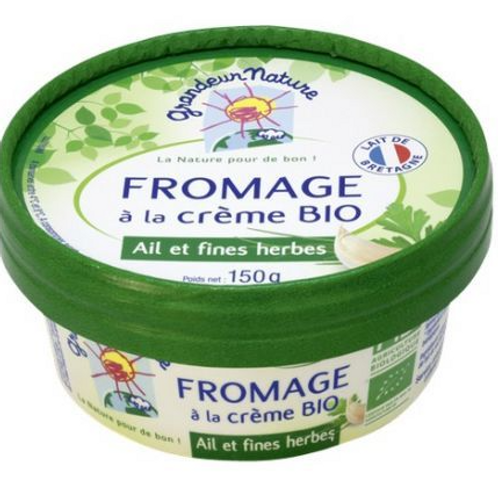 Fromage à tartiner ail & fines herbes bio