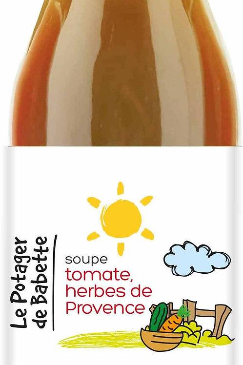 Soupe tomate et herbes de Provence