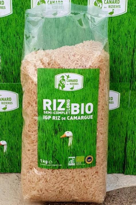 Riz Bio Long Semi-Complet