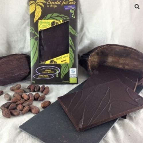Tablette de chocolat bio – Nature 100% de cacao