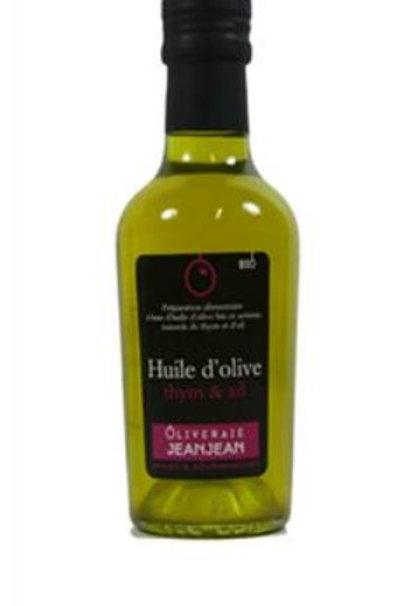 Huile d'olive thym et ail 25cl