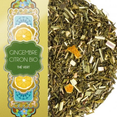 Thé vert - Gingembre citron Bio