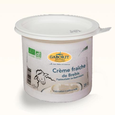 Crème fraîche de brebis bio
