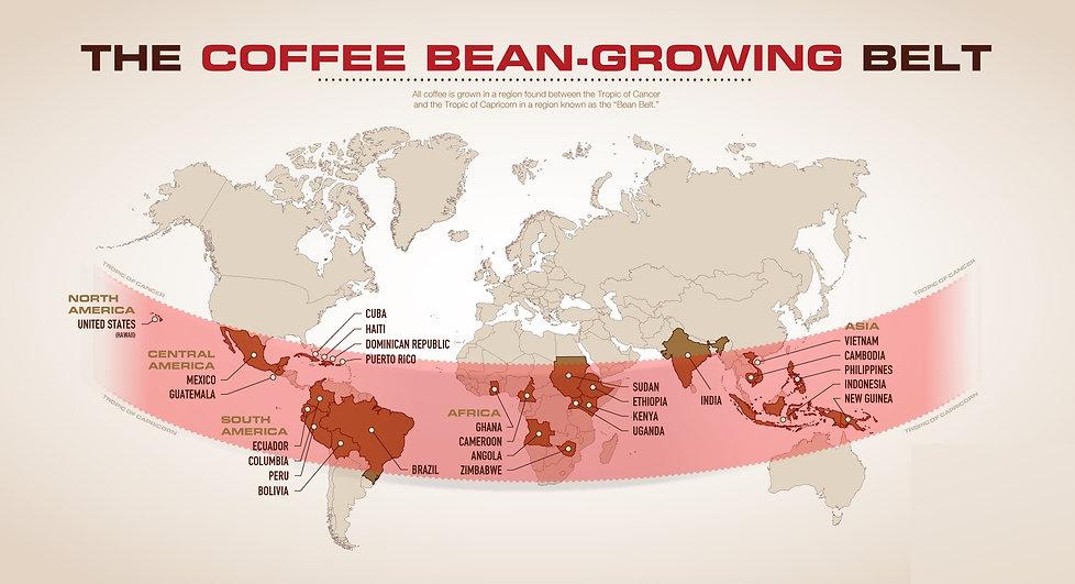 Kahve Yetişen Bölgeler