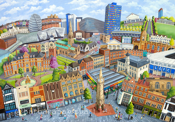 Leicester Townscape - limited edition prints (A1, A2, A3+&A4)