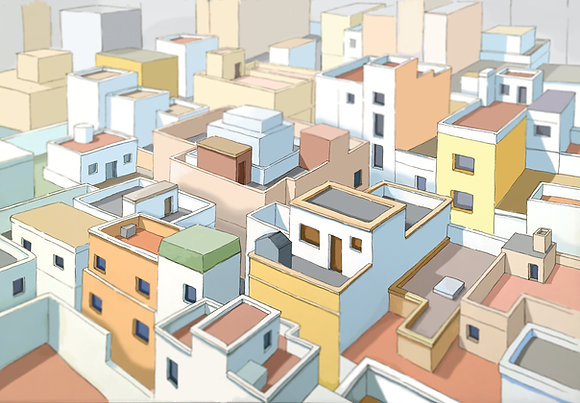 Almeria Rooftops - limited edition print